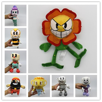 Collection Peluches personnages Cuphead 19-25 cm