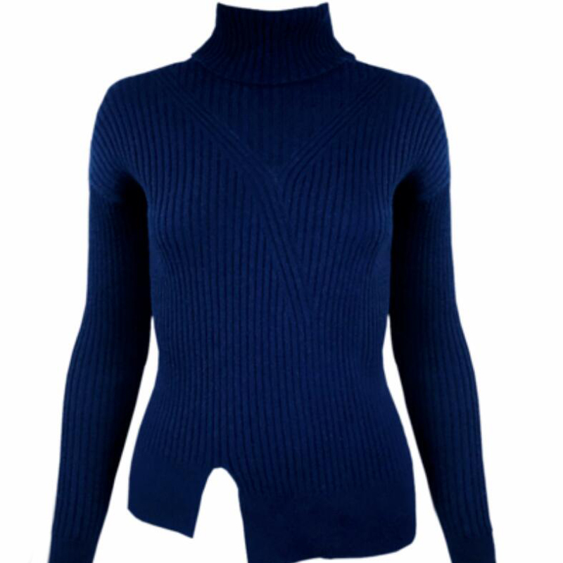 100 Cashmere Sweater Women Girl Winter Autumn Navy Blue