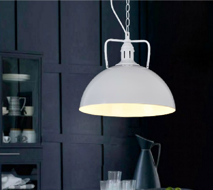 Obesek svetilke 30 cm hemisfere luč vintage industrijski slog - Notranja razsvetljava - Fotografija 2