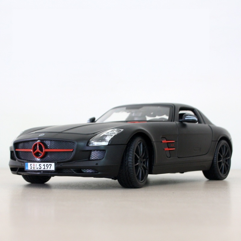 ФОТО 1:18 Free Shipping Mercedes-Benz SLS AMG Diecast Car Model Toy Car Model Electronic Car with Kids Toys Gift High Quality