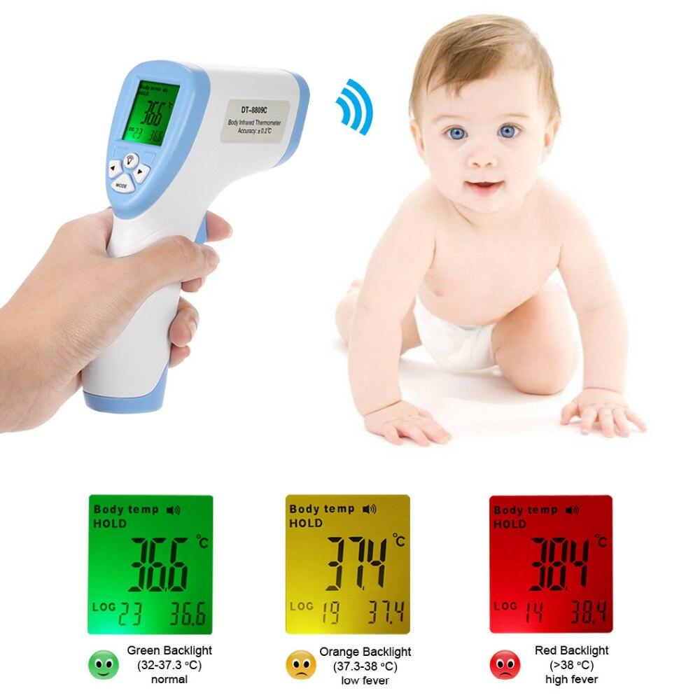 Digital Baby Termometro A Infrarossi Fronte Della Superficie Del Corpo termometro Per Adulti digitale Misuratore di Temperatura Pirometro Dati di Misura