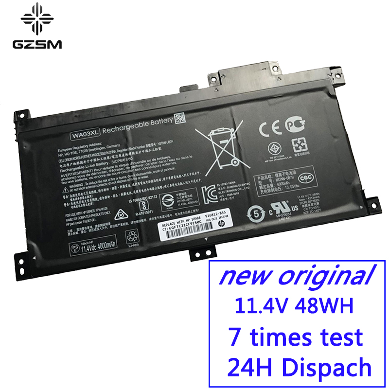 GZSM laptop battery WA03XL For HP WAO3XL HSTNN UB7H TPN W126 battery for laptop For Pavilion x360 15 br000 15 BR010ND battery in Laptop Batteries from Computer Office