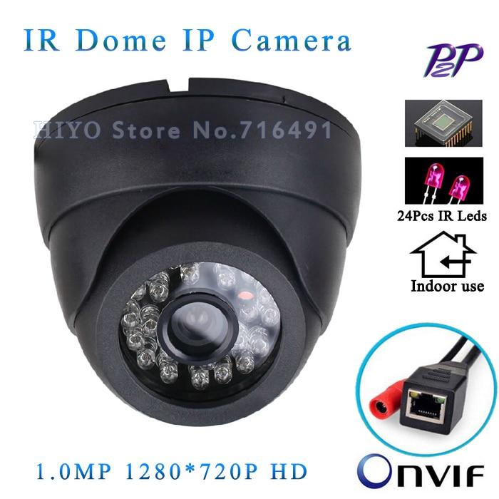 ФОТО Free shipping! 1280x720 HD 24pcs IR LEDS ONVIF IR-Cut Night vision 720P Mega pixel indoor motion detection Network IP Camera