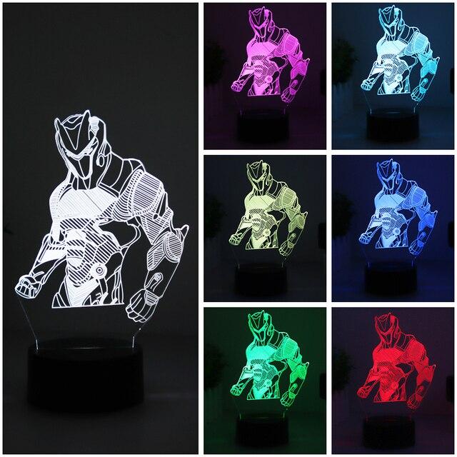 Fortnit Omega USB Night Light Home Atmosphere Decorative 3D LED Lights Batteries Operated 7 Color 5V 3D Table Lamp For Child 1