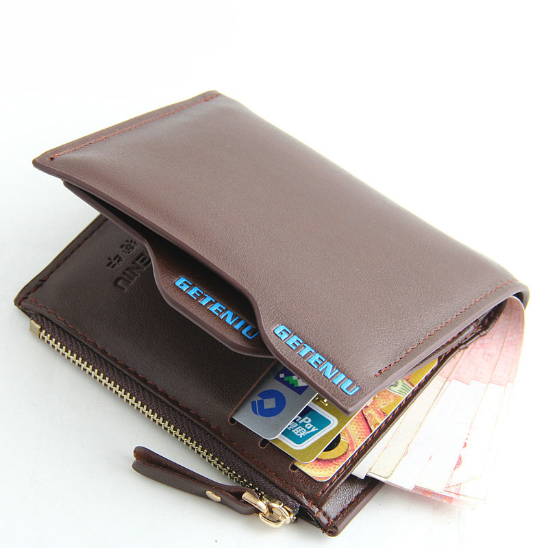 Hot Sale Fashion New Design Men's Wallets Quality Black Brown Solid Colors Coin Pocket Card Holders Zipper Wallets Free Shipping hot sale board game never have i ever new hot anti human card in stock 550pcs humanites for against sealed ship free shipping