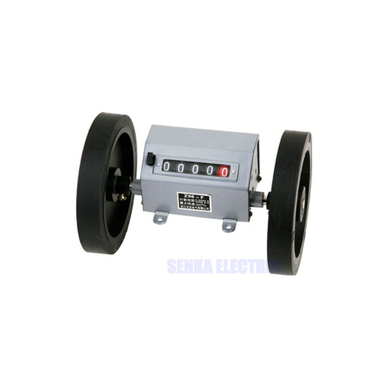 Z96-F Roller Wheel Mechanical Meter Counter Fabric Length Record Measure Counter Relay free shiping z96 f 5 digit meter counter mechanical length measure counter instrument used to measure length