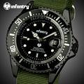 INFANTERÍA Hombres Relojes de Primeras Marcas de Lujo Ultra Delgada de Nylon Ejército Relojes 30 M Impermeable Auto Fecha Deportes Reloj de Pulsera Relojes