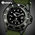 INFANTRY Men Watches Top Brand Luxury Ultra Thin Nylon Watches Army 30M Waterproof Auto Date Sports Wristwatches Clock Relojes