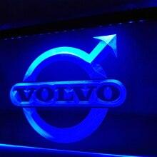 LG008-Volvo светодиодный неоновый светильник, подвесной знак, домашний декор
