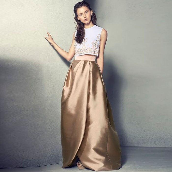 Jupe de fête formelle bleu ciel à la longue jupe de bal pour dame ruché Maxi jupes accessoires de cheveux de haute qualité personnalisé Madeize