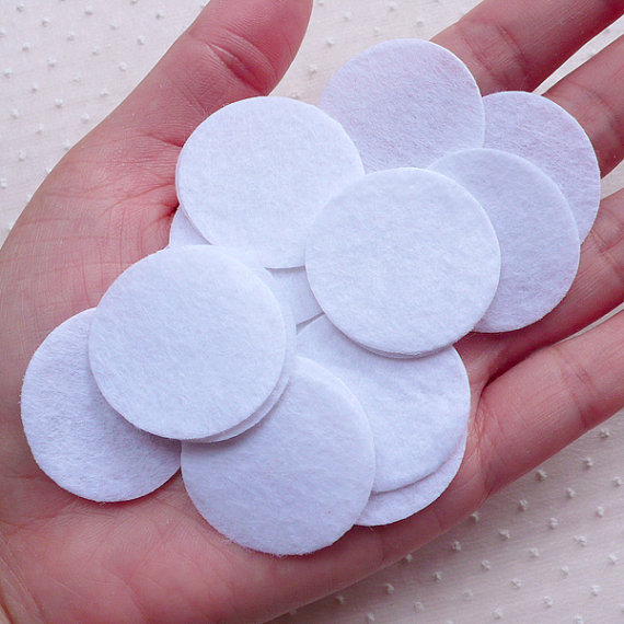 500pcs 1.2inch Felt Circle/30mm Felt Circle/3cm Felt Circle White)Round Appliques Fabric Flower Hair Bows Headbands Backing