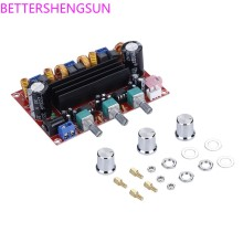 Xh-m139 2,1 канальный цифровой усилитель мощности 12 v-24 v Широкий напряжение TPA3116D2 2*50W 100W