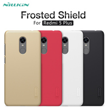 Case for Xiaomi redmi 5 plus Nillkin Super Frosted Shield hard back cover case for redmi5 plus with Gift Screen Protector