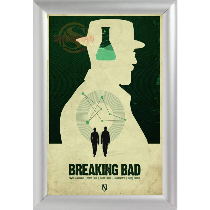 silver color aluminum alloy picture frame home decor custom canvas frame breaking bad canvas poster frame