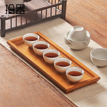 цена на Natural Bamboo Tea Trays Chinese Kung Fu Tea Set Serving Tray Kitchen Storage Puer Tea Cup Organizer Tea Board Accessories Gifts