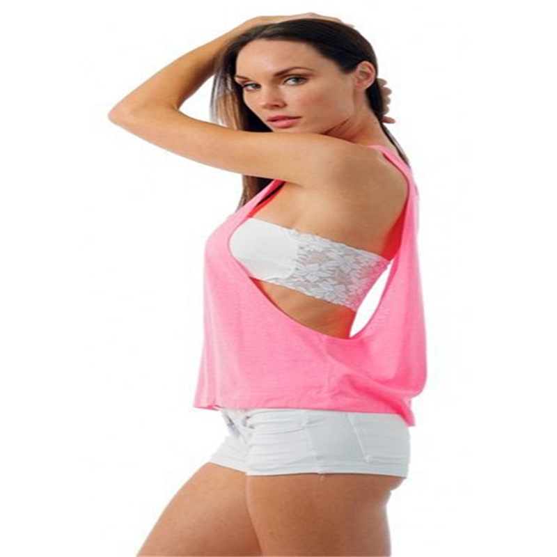 Racerback Workout   Tank     Top   Vest Women Casual Loose Camis 2018 Women's   Tops   Base Shirt Women's Blouse Wholesale Halter Side Boob