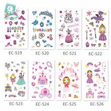 Розовая серия принцессы замок дизайн мультфильм Кристалл Поддельные