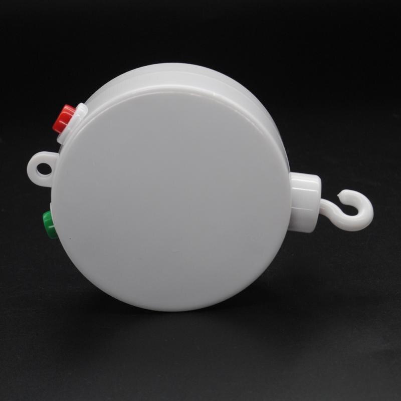 Электрический Авторотация Музыкальная шкатулка новый белый 12 MelodiesBaby кроватки колокол Windup движение кроватки кровать колокол подарок для де...