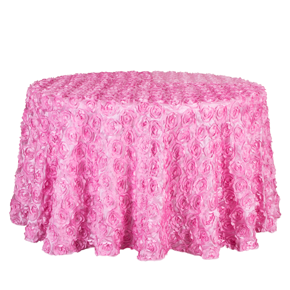 10PCS Decor Hotel Party Wedding Round Tablecloth 3D Rosette Embroidery Table Cloths Square Red White Gold Pink Blue Table Cover