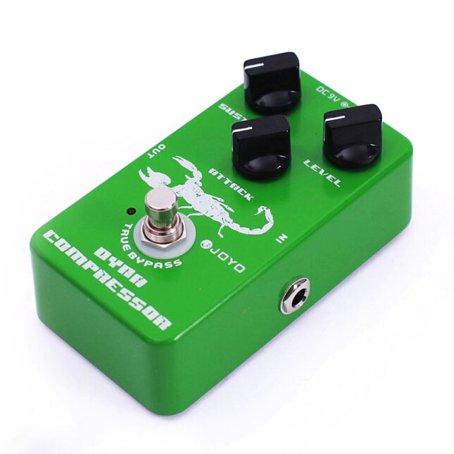 ФОТО Joyo JF-10 Dynamic Compressor Guitar Effect Pedal True Bypass free shipping free power supply