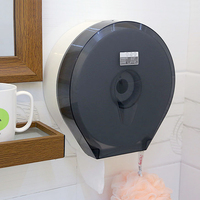 Wall Mounted Bathroom Tissue Box ABS Waterproof Kitchen Roll Paper Box Modern Hanging Toilet Paper Holder Tissue Box With Hook
