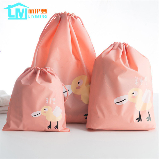 2d2731e9baf17 Aliexpress.com : Buy LIYIMENG Travel Storage Drawstring Waterproof Dry Toy  Bag Shoe Laundry Lingerie Makeup Container Cosmetics Underwear Organizer ...