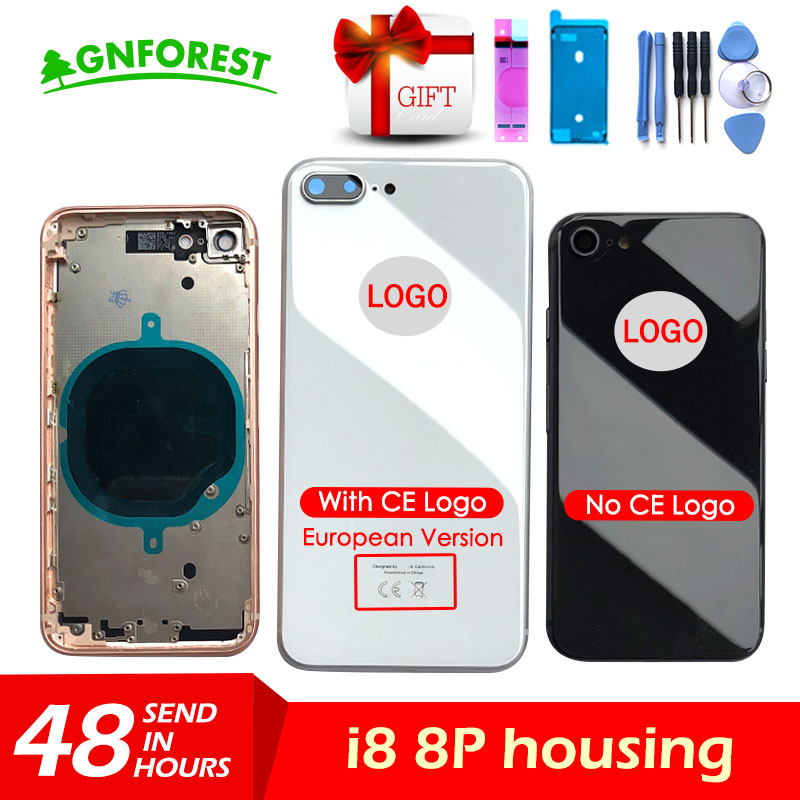 For iphone 8 8G or 8 Plus X Back Middle Frame Chassis Full Housing Assembly Battery Cover Body with CE LOGO glassFor iphone 8 8G or 8 Plus X Back Middle Frame Chassis Full Housing Assembly Battery Cover Body with CE LOGO glass