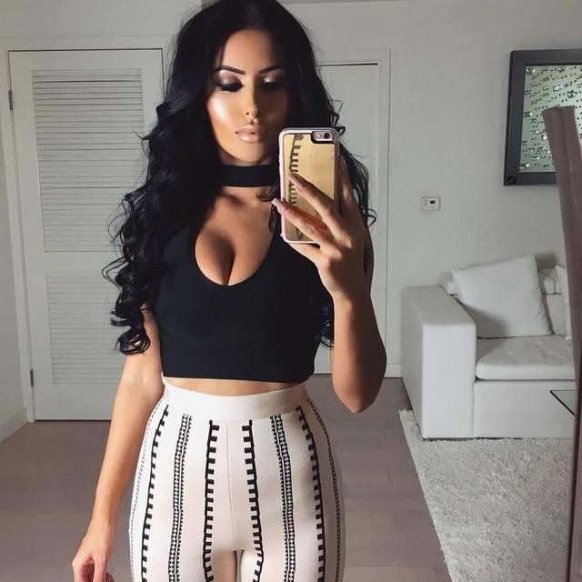 2017 Women Bodycon leggings bandage bottoms high waist harem long wide leg pants palazzo summer fashion club wonder sweatpants 2