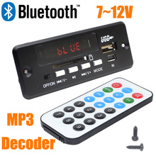 Оптовая Brand New 7 ~ 12 В Автомобильная Гарнитура Bluetooth MP3 декодирование доска с модулем Bluetooth + FM + бесплатная shipping-10000656