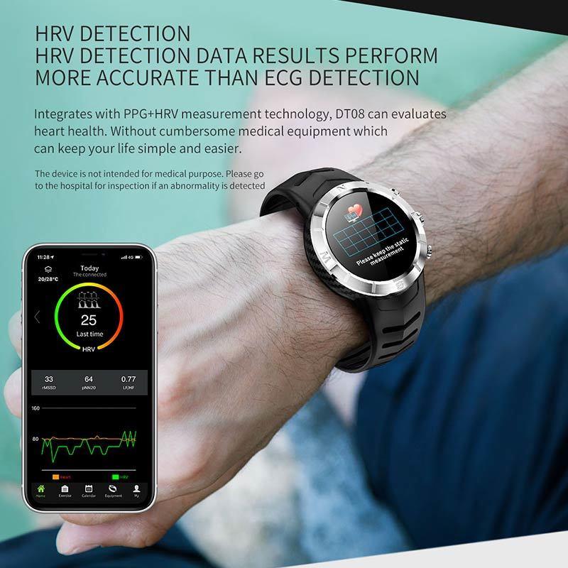 Dt08 Smart Watch Men Women 1.3 Inch Ip67 Waterproof Sport Smartwatch Activity Tracker Passometer For Ios Andriod Mjuniu