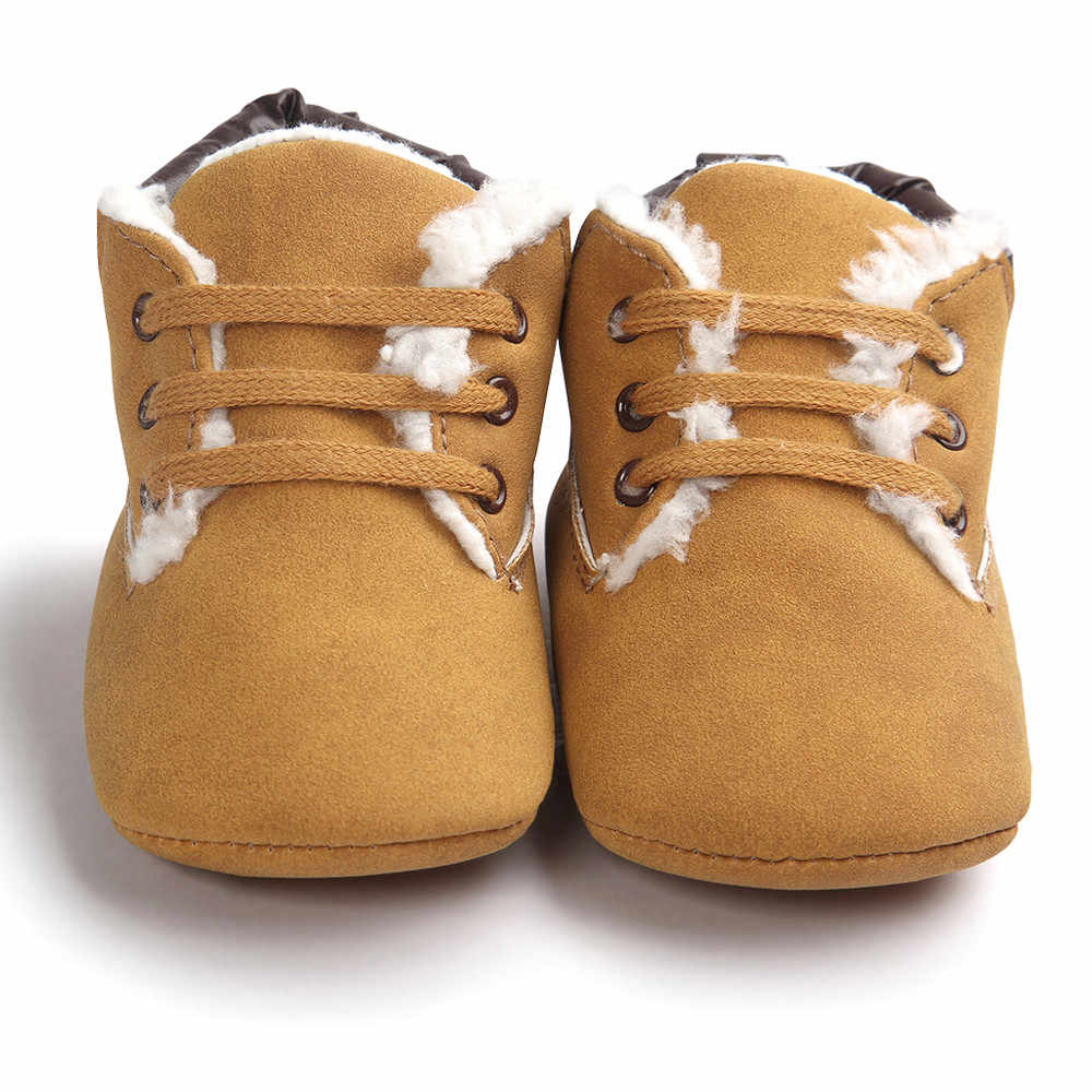 Baby Toddler Soft Warm Sole Leather Shoes Infant Boy Girl Toddler Shoes Warm Kids Snow Boots For Children New Toddler Winter