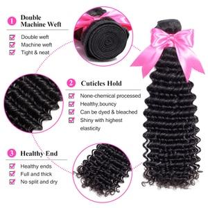 Image 2 - ISEE HAAR Mongoolse Diepe Krullend Hair Extensions 100% Menselijk Haar Bundels Gratis Verzending Natuur Kleur Kan Kopen 1/3 /4 Remy Haar Weave