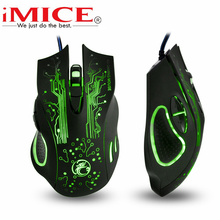 Original iMice Gaming Mouse Gamer Pro Estone X9 5000DPI LED Optical 6D USB Wired Ergonomic Mice For PC Computer Lol Dota 2 Game(China)