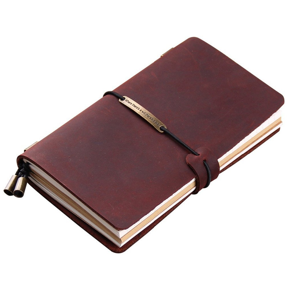 A5 Notebook Genuine Leather Vintage Personal Planner Organizer Luxury Travel Diary Journal Composition 2020 Note Book Stationery