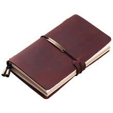 цены A5 Notebook Genuine Leather Vintage Personal Planner Organizer Luxury Travel Diary Journal Composition Note Books Stationery