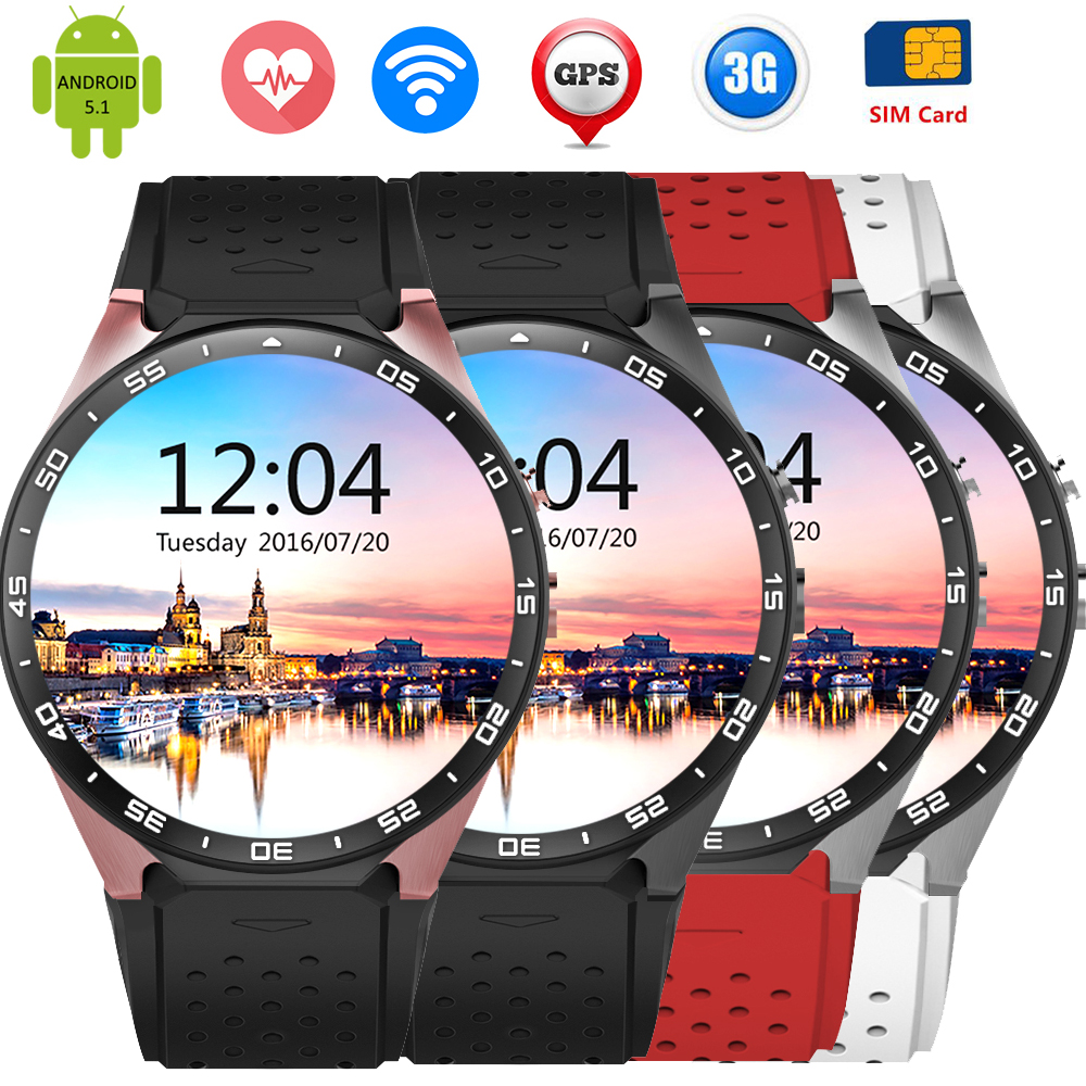 GPS Android Smart Watch Heart Rate ZW88 font b SmartWatch b font 3G Support SIM Card