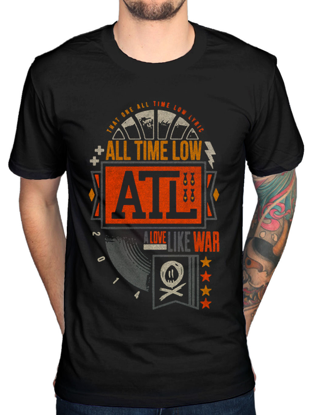 Mens All Time Low Volts T-Shirt Future Hearts Dirty Work Dont Panic sf