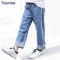 Autumn Fashion Children Jeans Girls Clothes Wide Leg Denim Pants Girl Vintage Loose Cotton Jeans Casual Trouser Kids Clothing