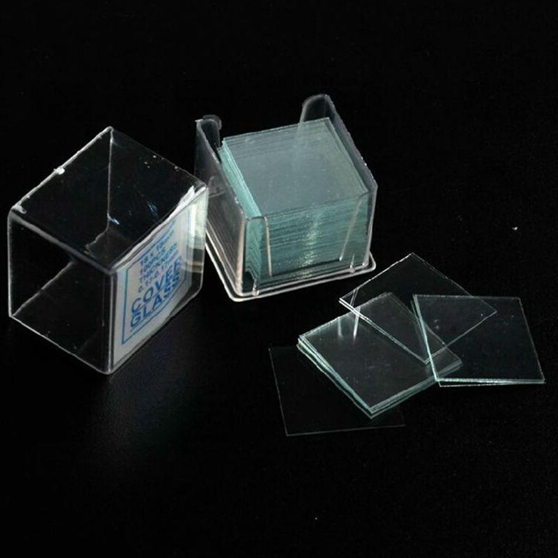 100PCS Professional Glass Cover Glass Microscope Cover Slips 18x18 mm Microscope Slide Covers Wholesale цена