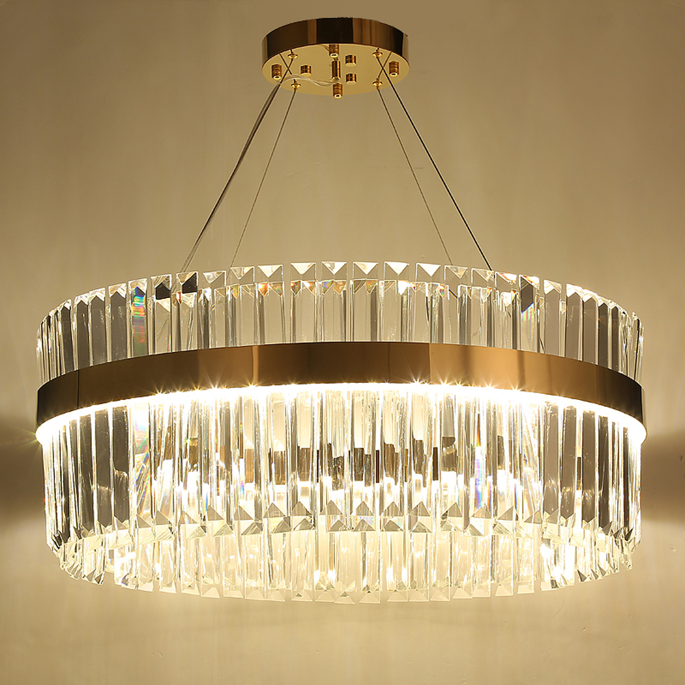 Led Kronleuchter Bigman 2 Layers Crystal Chandelier Modern Lighting Ac110v 220v Lustre Led Kronleuchter Home Decoration Gold Chandelier