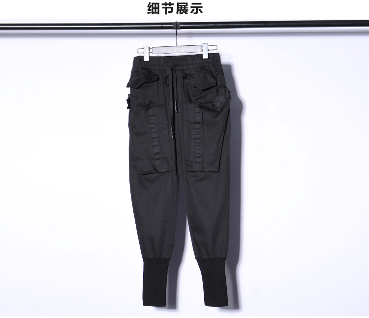 De Pantalones Casual Streetwear Hip Harem Hombre Negro Sueltos Moda Jogger Hop Botas Hombres Los IWqnRIr
