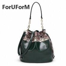 Frauen PU Taschen Handtaschen Schlangenholz Schulter Eimer Tasche Japan Südkorea Style-GL027