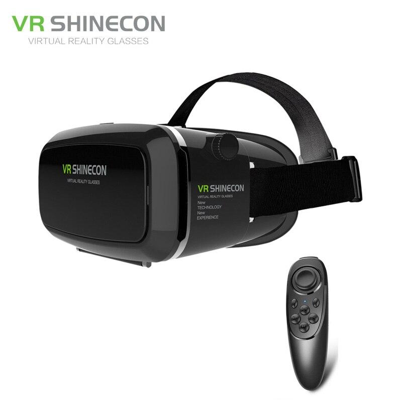 SHINECON Plus <font><b>VR</b></font> 3D <font><b>Glasses</b></font> Helmet Virtual Reality <font><b>Googles</b></font> Headset <font><b>Head</b></font> <font><b>Mount</b></font> Cardboard <font><b>BOX</b></font> For 4-6'+ Bluetooth Controller