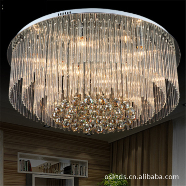 new items modern square k9 led chandelier crystal ceiling lamps d800h35mm home decorative - Decorative Chandelier
