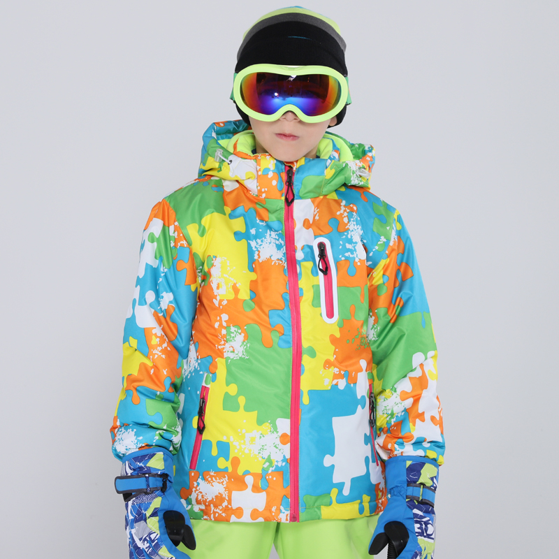 Ski Jacket For Child Brands Children's High Quality Windproof Waterproof Snow Jacket Winter Boy Skiing And Snowboarding Jacket