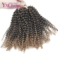 Synthetic braiding hair extensions Kinky Twist Hair Curly Crochet Braids Kanekalon