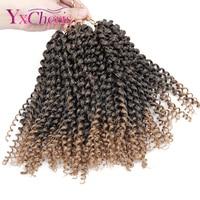 Synthetic braiding hair extensions Kinky Twist Hair Curly Crochet Braids Kanekalon