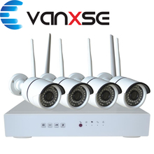 Vanxse 4CH 720P Wireless WIFI NVR Kit Home Surveillance Security System with 4pcs 1.0MP HD WIFI IR Outdoor/Indoor IP Cameras