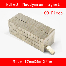 100PCS 12*4*2mm 10*5*2mm 5*5*3mm n35 Rare Earth strong permanent NdFeB Neodymium Magnet
