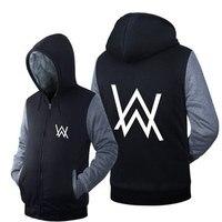 2017 New Sweatshirts Alan Walker DJ Winter Fleece Hoodies Pure Cotton Alan Walker Faded Electric Hoodie